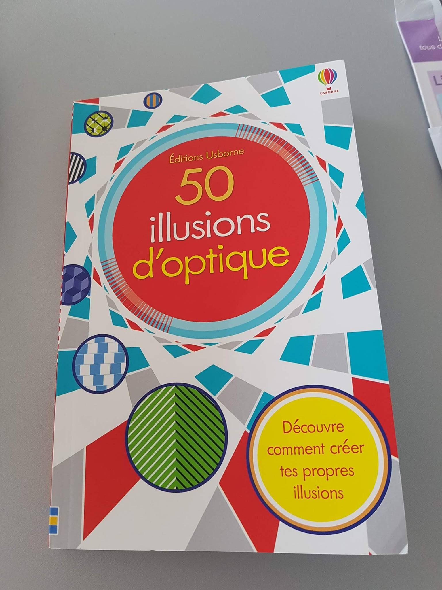 Le top des testeuses 50 illusions d'optique des Editions Usborne Le Coin des Mamans